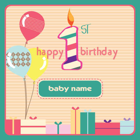 1st birthday: 1st Birthday Greeting Card