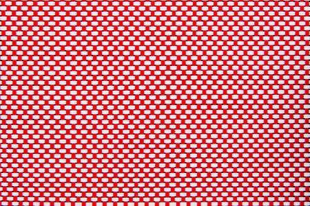 blackout: textures blackout roller blind webbing red Stock Photo