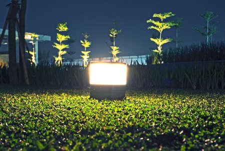 lamp light: Garden Lamp Light On