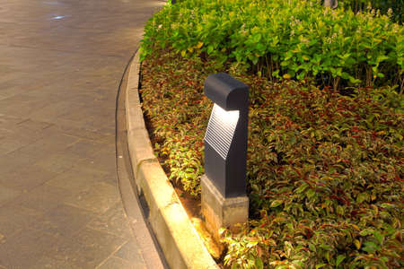 luminaire: Pathway Garden Lighting Lamp Stock Photo