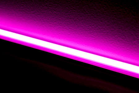 lumens: Pink LED Light Source Stock Photo