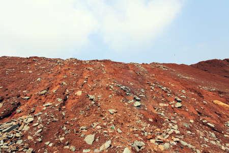 trading floor: Red Soil Hill Stock Photo