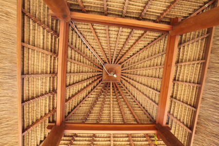 ceiling: Wooden Hut Ceiling Unique Stock Photo