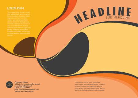 leaflet design: Leaflet Design Template Creative Vector