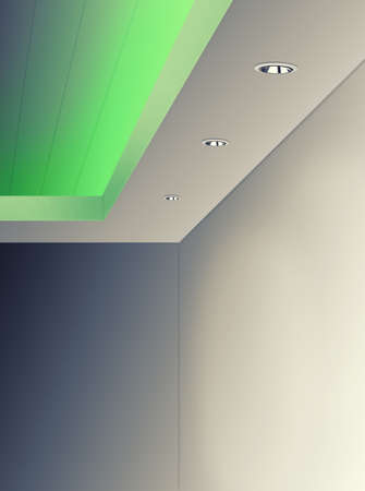 Ceiling Lighting Using LED Green Color