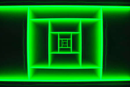 tiefe: Abstrakt Tiefe Green Square