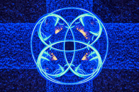 ironworks: Blue Cross Circle Abstract Background Stock Photo