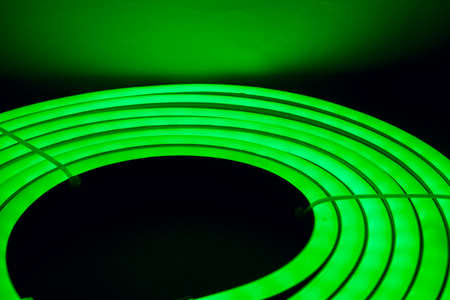 lightbar: Green Led Direct Light Neat Circular option 5 Stock Photo