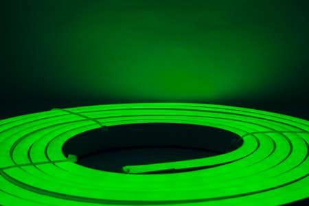 lightbar: Green Led Direct Light Neat Circular Stock Photo
