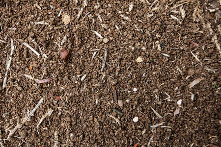 topsoil arable land with compost Stock Photo