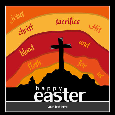 believer: happy easter greeting card