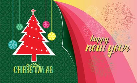 happy christmas: merry christmas & happy new year