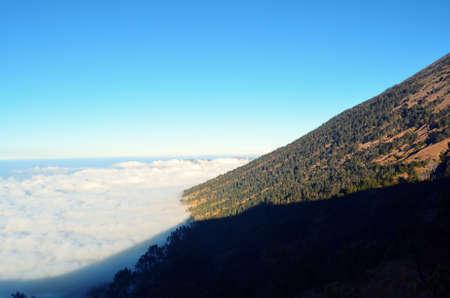 Mountain Slope of Rinjani Stock Photo