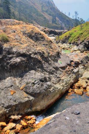 Big Rock at the Creek Stock Photo
