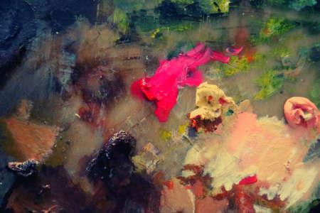 colorful paint painting palette