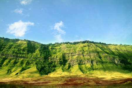 Green Hill of Bromo Mountain Stock Photo