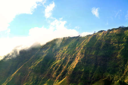Hill of Bromo mountain. Beauty landscape