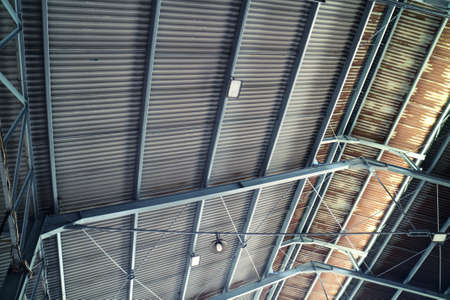 Tin Roof Architecture using Iron Frame Stock Photo