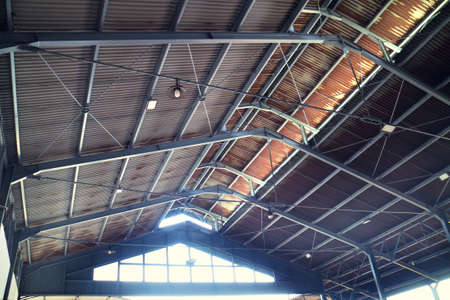 Rusty Tin Roof with Iron Frame