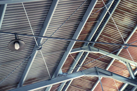 Tin Roof Architecture with Lighting Element