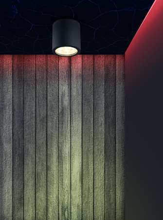 Interior Lighting Using LED Down Light Stock Photo