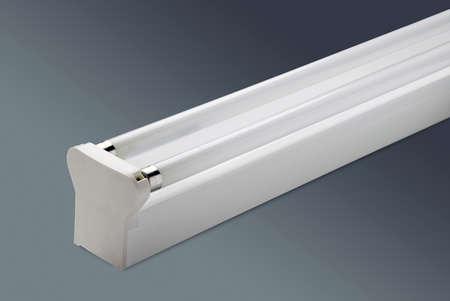 Fluorescent Lighting Twin Lamp Feature Stock Photo