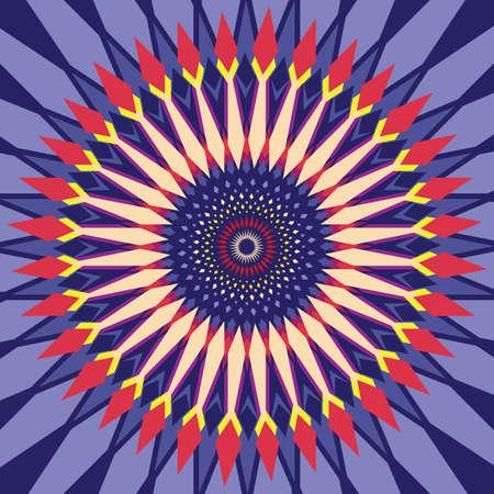 Abstract Shape Fractal Seamless Purple