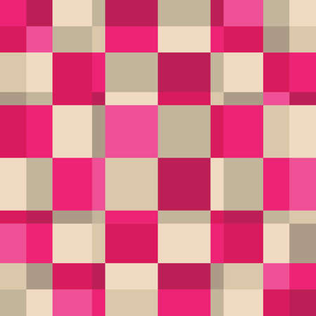 Abstract Pink Square Color