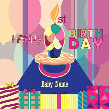 1st Birthday Baby Pacifier
