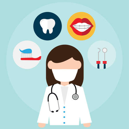 Dental related vector icons Illustration