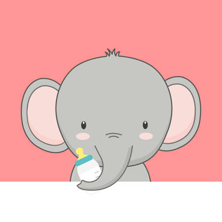 Cute cartoon baby Elephant. Ilustrace