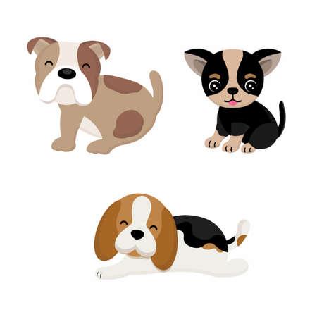 Cute dogs cartoon.