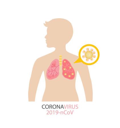pathogen respiratory coronavirus 2019-ncov vector illustration