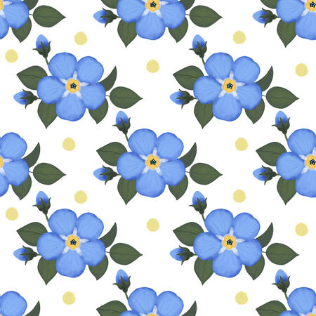 Flowers And Leaves seamless pattern Stock Illustratie
