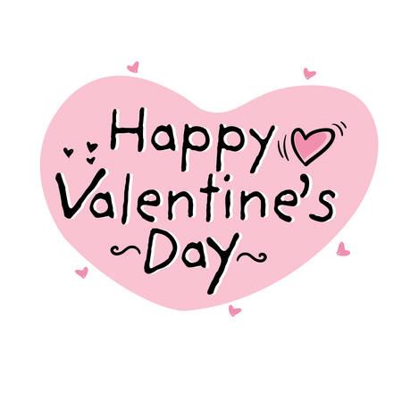 Happy Valentines Day typography poster.