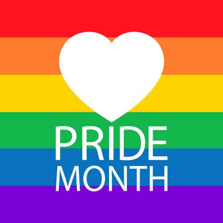 LGBT Pride Month in June.Poster, card, banner and background. Vector illustration Vector Illustration