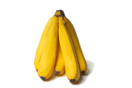 Bunch of ripe bananas isolated on white background