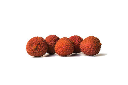 Tasty lychee in bowl. Raw Organic Red Lychee Berries Ready to Eat