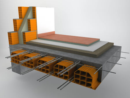 stratigraphy: Floor axonometric section