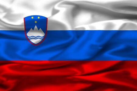 slovenian: Slovenian flag Stock Photo