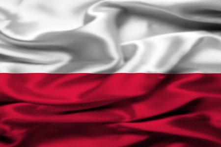 polish: Polish flag Stock Photo