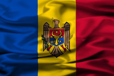 scepter: Moldovan flag Stock Photo