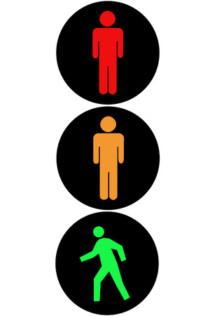 Pedestrian traffic light Фото со стока