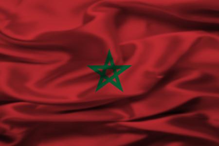 Moroccan flag Imagens