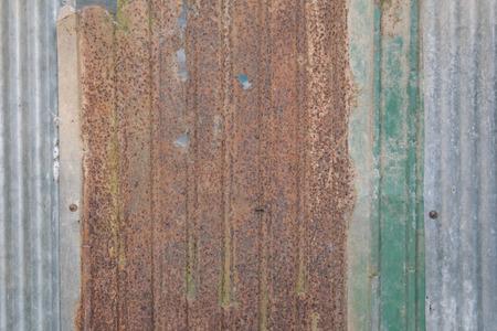 steel sheet: old rusty galvanized iron plate texture.