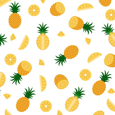 Vector illustration of pineapple pattern