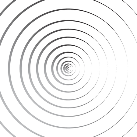 Abstract concentric circles geometric line background - Vector illustration Stock Illustratie