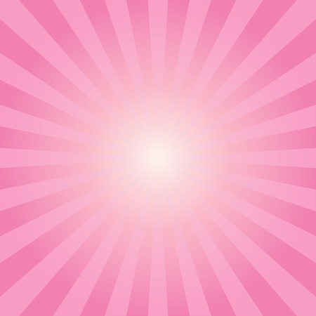 Abstract sunbeams pink rays background - Vector illustration 矢量图像