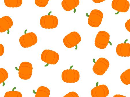 Vector illustration of pumpkin seamless pattern on white background