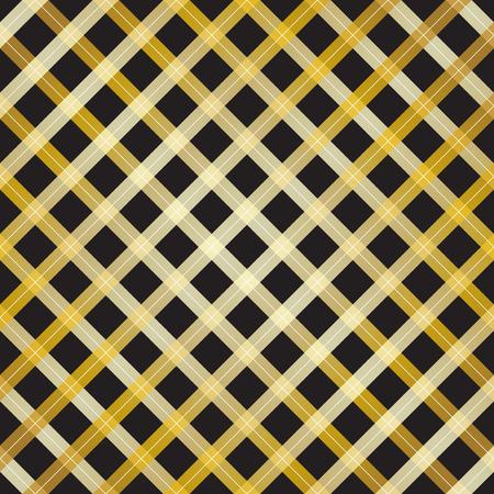 Abstract gold cross line design on black background - Vector Illustration